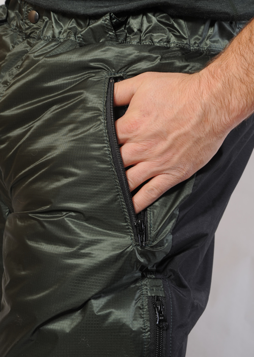 Fleece Lined Zip Side Pockets